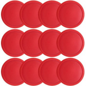 Large Full Size Air Hockey Replacement Pucks - Set of Twelve!