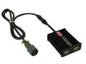 Dual USB Output Adapter for use with mobile phones, digital cameras, MP3 players and other USB-powered devices