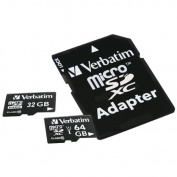 VERBATIM 44082 microSDHC(TM) Card with Adapter