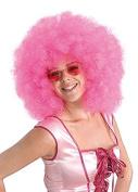 Womens 70s Mega Huge Pink Afro Wig