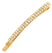 Vwhite Womens Crystal Rhinestone Bridal Hair Clips Pins Barrettes Accessories