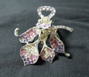 Save Good Buy Beautiful Vintage Crystal Butterfly Shape Hair Cla