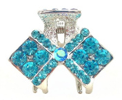 Crystal Diamond Hair Clip - Aqua