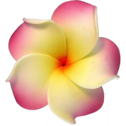 Foam Flower Small Hair Clip Plumeria Lilac, White, Yellow