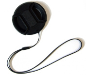 Deluxe 55mm Centre Pinch Lens Cap with String Holder Keeper Strap for Digital Cameras and Video Camcorders