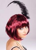 Ladies Burgundy 20s Cabaret Wig