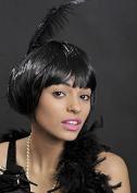 Ladies 1920s Flapper Girl Black Babe Wig