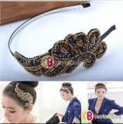 Women . Fashion Cute Trendy Bling Angel Beads Wing Headband Hair Band Gift[11237|01|01]