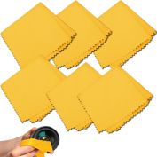 (6 Pack) Microfiber Cleaning Cloths - For Tablet, Cell Phone, Laptop, LCD TV Screens and Any Other Delicate Surface 6 Yellow Colour