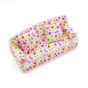 Lovely Miniature . Barbie Sized Dollhouse Flower Print Furniture Sofa Couch Pillow Cushions