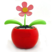 Solar Powered Dancing Flower - Red