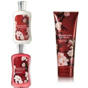 "Bath & Body Works Signature Collection "" Japanese Cherry Blossom"" Gift Set ~ Body Cream ~ Shower Gel & Body Lotion ~"