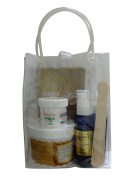 410ml Soft Sugaring Kit - Organic Sugaring Hair Removal to Use with Strips - Full Kit in a Bag -14 Soft Sugaring Jar + 60ml Sugaring Powder+60ml Sugaring Toner +60ml Azulene Oil + 12 Reusable Organic Cotton Strips + 3 Spatulas + How to Use & Tips Brochure