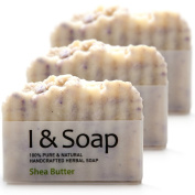 All Natural Handcrafted Herbal Soap (Shea Butter-Lavender) - 3 pack