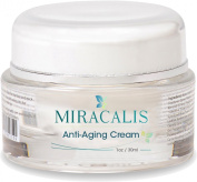 Moisturiser Cream by Miracalis - Best Daily Anti-Ageing Skin Care Treatment Product for Face, Neck and Under Eyes, Simple Day-Night Formula, May Repair Patches of Facial Wrinkles, Great for Dry, Oily or Sensitive Skin, Rapid Results, .