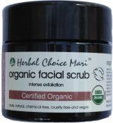 Herbal Choice Mari Organic Facial Scrub - Intense Exfoliation 125g130ml Jar