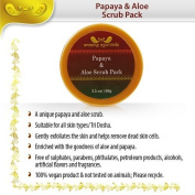 Amazing Ayurveda Papaya Aloe Scrub Pack, 100ml