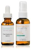Hyaluronic Acid Serum and Vitamin C Facial Toner- Treatment Set