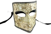 New Bauta Mask - Men's Full Face Venetian Masquerade Mask - Halloween Mask, Masquerade Party, Costume by 4everstore