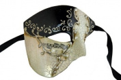 Venetian Exclusive w/ Black Musical Half Face Masquerade Mask