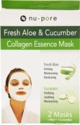 3 Packs of Nu-pore Fresh Aloe & Cucumber Collagen Essence Mask 2 Mask Per Box a Lot of 6 Total
