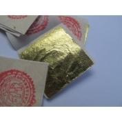 24k Gold Premium 50 Leaf Sheets 4 x 4 cm Geniune Gold Leaf Pure Facial Mask Original for Better Skin
