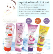 4 MIX Isme White SPA Whitening Facial Foam, Face Mask, Face Detox & Face Scrub Amazing of Thailand