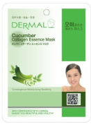 Dermal Korea Collagen Essence Full Face Facial Mask Sheet - Cucumber