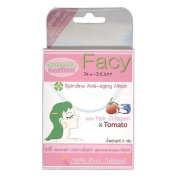 Facy : Spirulina Anti-Ageing Mask Powder with Collagen and Tomato Extract 2 g Product of Thailand