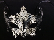 Luxury Silver Queen Masquerade Mask Venetian Design Masks Silver Coloured Perfect for Mardi Gras Majestic Party Halloween Ball Prom