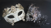 Masquerade Couples Venetian Impression Elegantly Design Masks - A Set of 2 Peices