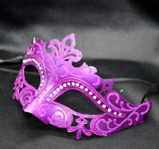 New Purple Classic Mask Mardi Gras Venetian Halloween Ball Prom Masquerade Mask