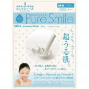 Pure Smile Milk Essence Mask, Vitamin E, Collagen and Hyaluronic Acid for All Skin Types 1 Sheet