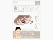 Pure Smile Pearl Essence Mask, Vitamin E, Collagen and Hyaluronic Acid for All Skin Types 1 Sheet