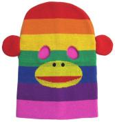 Rainbow Monkey Knit Face Mask Hat