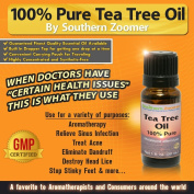 Pure Tea Tree Oil (100% Australian Melaleuca Alternifolia) - 30ml of the Best Essential Oil with Antiseptic, Antifungal & Antibacterial Therapeutic Properties - Use in Aromatherapy, Acne Treatment, Athlete's Foot, Boils & Pimples, Scalp, Skin, Warts, D ..