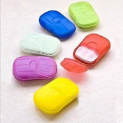 Compact Laundry Hand Washing Scented Soap Sheet Slice Foaming Soap Flakes Random Colour