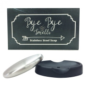 Bye Bye Smells Stainless Steel Oval Shaped Odour Removing Bar with Tray