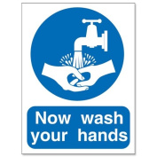Stewart Superior PVC Access Prohibition And General Signs - Now Wash Your Hands Please 200x150mm