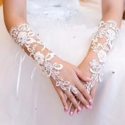 Exquisite Fingerless Sequins Rhinestone Bridal Glove