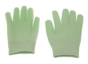 Lotion Gloves(feather yarn) Gel-Lined Moisturising Gloves, 1 Pair - Green SPA Gloves
