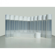 50 Lip Balm Empty Container Tubes 3/16 Oz (5.5ml), Natural (Translucent) Colour. MADE IN THE USA