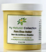 Pure Real Organic African Shea Butter - MyNaturalCollection 1lb-470ml 100% Natural Raw Organic Shea Butter, the one-for-all Beauty Product for Skin Care, Hair Care, Body Butters - The African Secret of Perfect Skin and Traditional Balm - 100% Satisfact ..