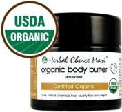 Herbal Choice Mari Organic Body Butter Unscented 100ml/ 3.4oz JAR