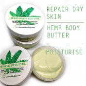 Organic Hemp Body Butter, Luscious Cream For Dry Sensitive Skin