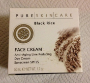 Pure Skin Care, Black Rice Face Cream Anti-ageing Line Reduction Day Cream Sunscreen Spf15