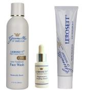 LEROSETT® Organic Acne System (OTC) with Scar Prevention-Based on Nutrient Rich Organic Aloe