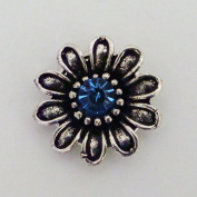 Blue Blooming Daisy Snap Jewellery