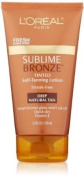 L'Oreal Paris Sublime Bronze Tinted Self-Tanning Lotion, Deep Natural Tan, 150ml