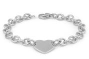 Kids Jewellery - Sterling Silver Heart Tag Rolo Chain Bracelet